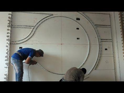 ديكور شاشه التلفزيون جبس بورد تعلم ازى ترسم ديكور من البداية إلى النهاية من قاسم اسيوط Y Simple False Ceiling Design Tv Wall Design Bedroom Furniture Design