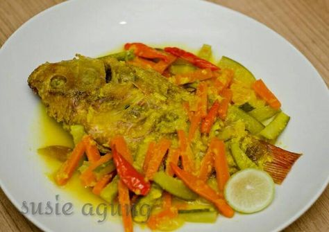 Resep Ikan Nila Acar Kuning Oleh Susi Agung Resep Resep Ikan Resep Masakan Asia Resep Masakan