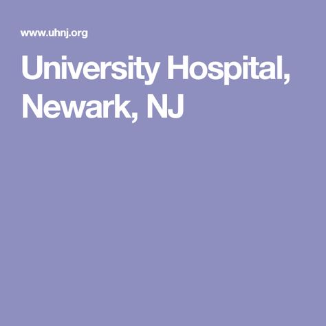 University Hospital, Newark, NJ | Liver Issues (Book Research)