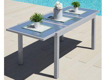 Merxx Gartentisch Amalfi Aluminium Ausziehbar Grau 140 200