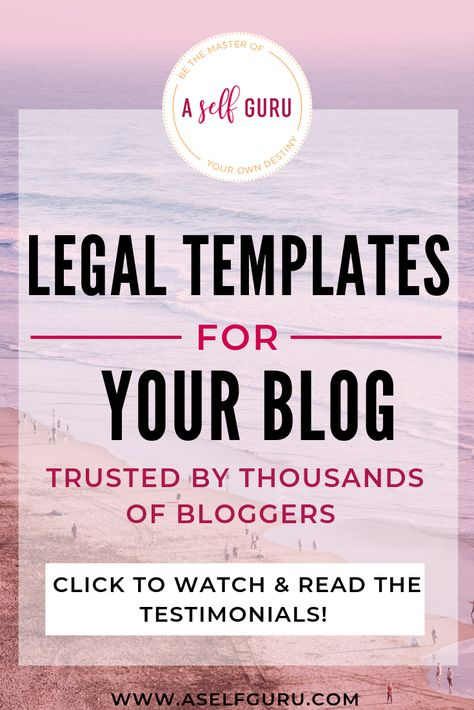 Are you blogging legally? Here are the legal templates you need for your blog!