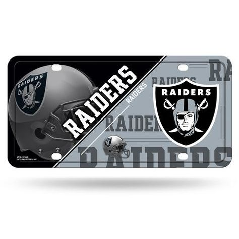 Oakland Raiders License Plate Metal Oaklandraiders Oakland Raiders Raiders License Plate