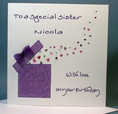 Handmade Birthday Cards For Sister