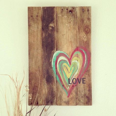 Wood Pallet Heart / Love Art by 1920Shoppe on Etsy, $70.00