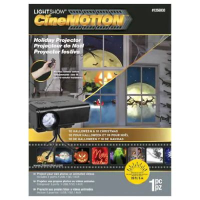 Free Ship Gemmy Lightshow Cinemotion Holiday Projector Christmas Halloween Holiday Projector Light Show Christmas Collectibles