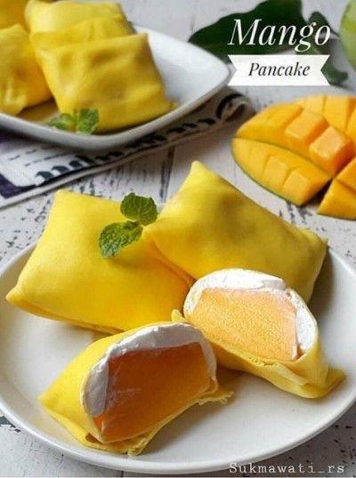 Mango Pancake Di 2020 Resep Kue Mango Adonan