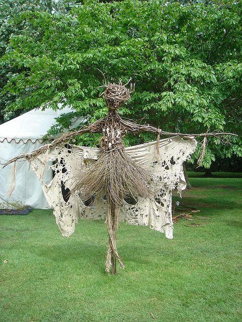 Prima scarecrow-Wicker sculpture at Haughley Park, Suffolk