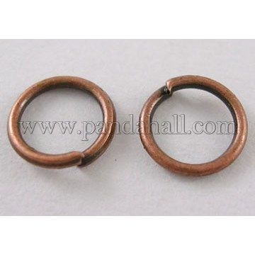 b8269fb7a2c7a Iron JumpRings, Close but Unsoldered, Nickel Free, Red Copper Color ...