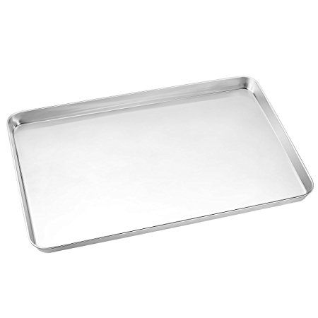 Large Baking Sheets Hkj Chef Baking Pans Stainless Steel Cookie Sheets Toaster Oven Tray Pans Rectangle Size 24l X Easy Cleaning Toaster Oven Baking Pans