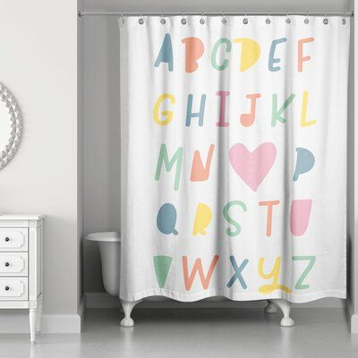 Isabelle Max Lona I Love You Abc S Shower Curtain Stylish