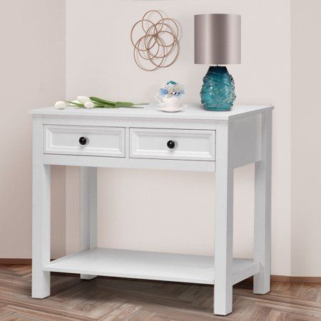Two Drawer Console Table Walmart Ca 32wx30hx13d Remodel Bedroom Hall Furniture Modern Console Tables
