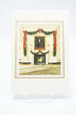 White House Christmas Card 2020 Authentic 1987 Ronald Reagan White House Christmas Card Small