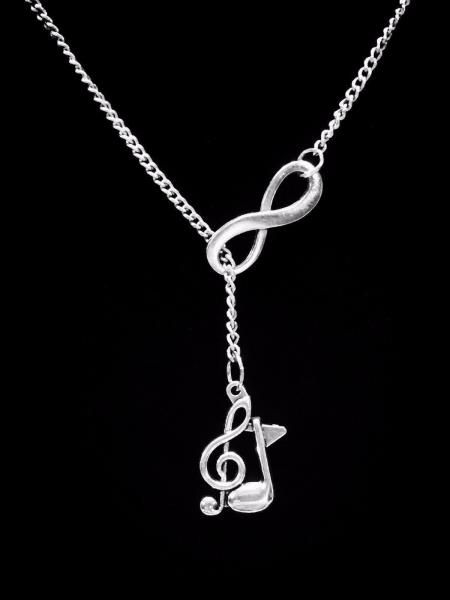 Treble Clef Necklace Eight Note Music Marching Band Musical Note Lariat