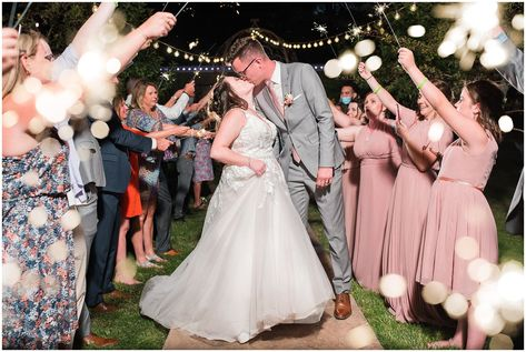 Sparkler Exit | Oak Hills Utah Dusty Rose and Gray Summer Wedding | Jessie and Dallin Photography #utahwedding #utahsummerwedding #summerwedding #mountainwedding #rockymountainwedding #blushandgraywedding #blushandgray #oakhillsutah #utahweddingvenue