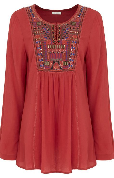 Embroidered Boho Tops & Dresses Trend
