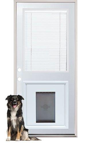 Excellent Internal Miniblind Back Door With Pet Doggy Door With French Patio  Doors With Doggie Door