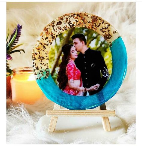 Customised 6inch diameter Resin photo frame ( 6mm thickness) by one of my student in personal workshop conducted recently. It's one my favourite colour palette 💓✨ . . Best gift for your loved ones on any occasion 🙂 . . Make to order . Customisation available ✔️ . Send me a message to order 💛🤍📩 . Delivery Pan India 🚚 #resinart #resinframe #resinartworkshopmumbai #photoframes #resinframe #goldleafing #resinartworkshop #resinworkshop #functionalartwork #resincraft #resinartistindia