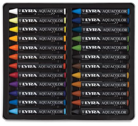 Lyra Aquacolor Crayon Sets Crayon Set Watercolor Water Color