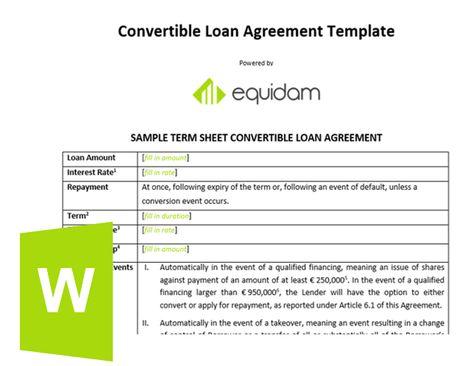 Equidam on - sample term sheet
