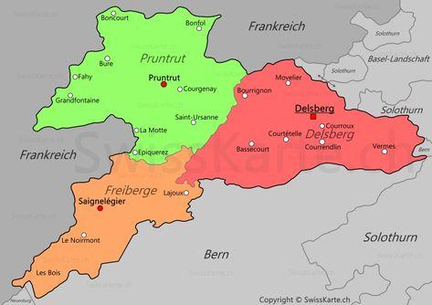 Karte Kanton Jura Jura Frankreich Karten