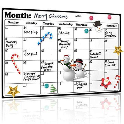 Fridge Calendar Magnetic Dry Erase Calendar Whiteboard 2019 20