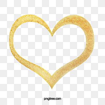 Heart Clipart Golden Heart Material Golden Clipart Creatives Clipart Heart Outline Hand Drawn Heart Shaped Heart Outline Png Heart Hands Drawing Heart Outline