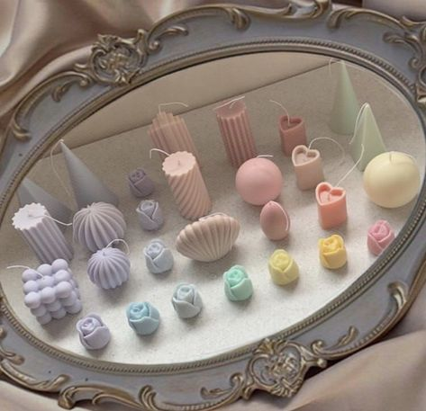 Cute Candles, Best Candles, Diy Candles, Homemade Candles, Deco Pastel, Pastel Room, Pastel Decor, Deco Tumblr, Room Ideas Bedroom
