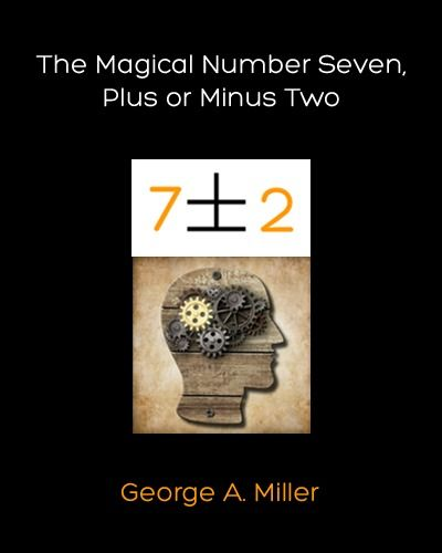 George A Miller: The Magical Number Seven Plus or Minus Two