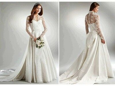 Ad Ebay Url Abs Allen Schwartz Kate Long Sleeve Lace Bodice Bridal Go In 2020 Simple Lace Wedding Dress Long Sleeve Wedding Dress Lace Lace Wedding Dress With Sleeves,Country Wedding Rustic Mother Of The Bride Dresses