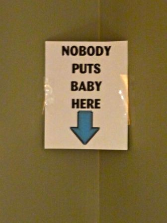 Great decoration Idea for Nobody Puts Baby in the Corner