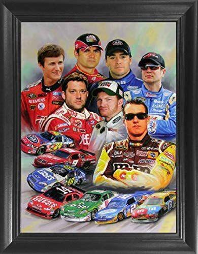 Nascar Stars Jeff Gordon Dale Earnhardt Jr Sr Jimmie Johnson Tony Stewart Kasey Kahne Kyle Busch 3d Poster Wall Art De Nascar Racing Nascar Kyle Busch