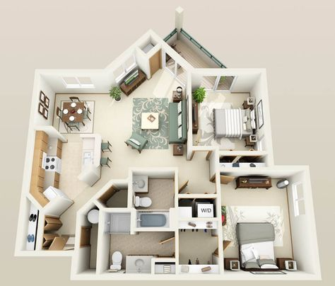 Awesome 3D Plans For Apartments Plant Pinterest Apartments, 3d