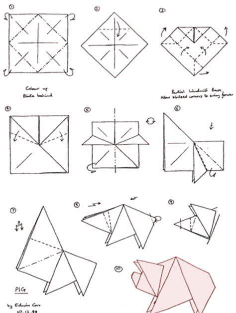 Bildergebnis Fur Origami Schwein Origami Diagramme Origami Kinder Basteln Papier