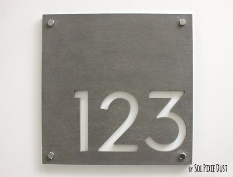 Modern House Numbers for Every Budget | House numbers, Door ...