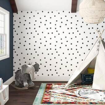 Mckinnon Speckle Paintable Peel And Stick Wallpaper Panel In 2020 Peel And Stick Wallpaper Polka Dots Wallpaper Dots Wallpaper