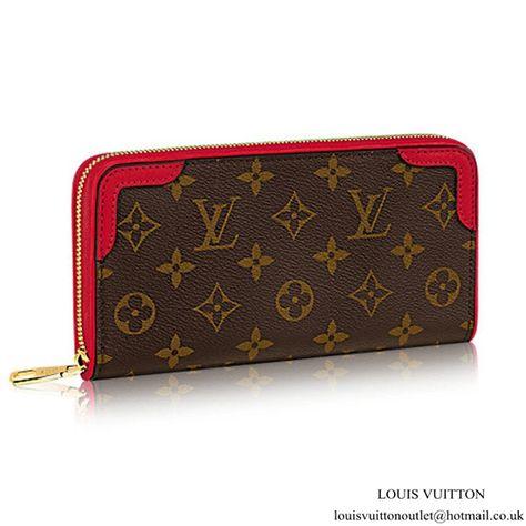a3e92a62ef075 Louis Vuitton M61854 Zippy Wallet Retiro Monogram Canvas