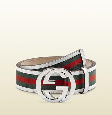e760be052 Gucci signature web belt with interlocking G buckle on shopstyle.com