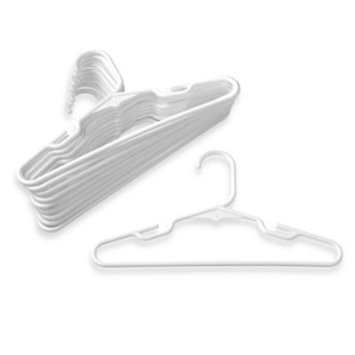 Set of 40 Merrick Children Plastic Hangers White