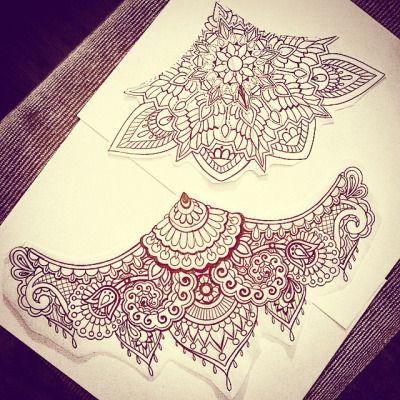 lace sternum tattoo - Google Search                              …