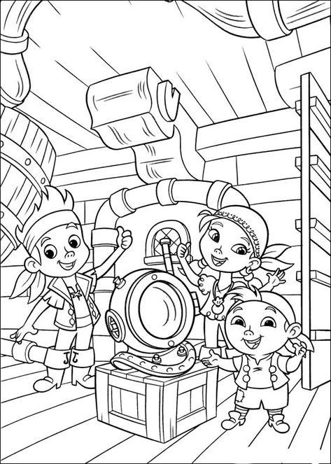 jake und die nimmerland piraten 17 ausmalbilder für kinder