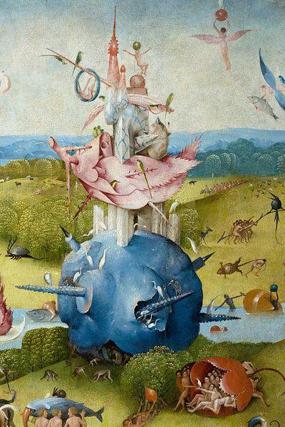 Jeroen Bosch Tuin Der Lusten Detail 1490 Van 1000 Schilderijen