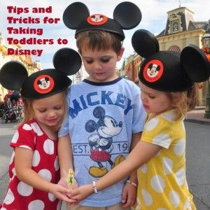 Tips and Tricks for traveling to Disney with Toddlers and Preschoolers.  Share your own in the comments.