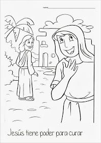 Me Aburre La Religion Jesus Sana A Una Mujer Enferma Jesus Sana Artesanias De Historia De La Biblia Mujer Enferma