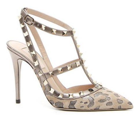 Valentino Rockstud leopard print pumps