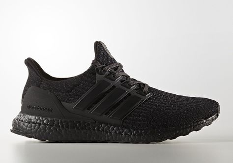Adidas Ultra Boost 3 0 Triple Black Matte Heel Cg3038 Ultra
