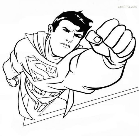 Superman Boyama Resimleri Ile Ilgili Gorsel Sonucu Resim Harfler Egitim