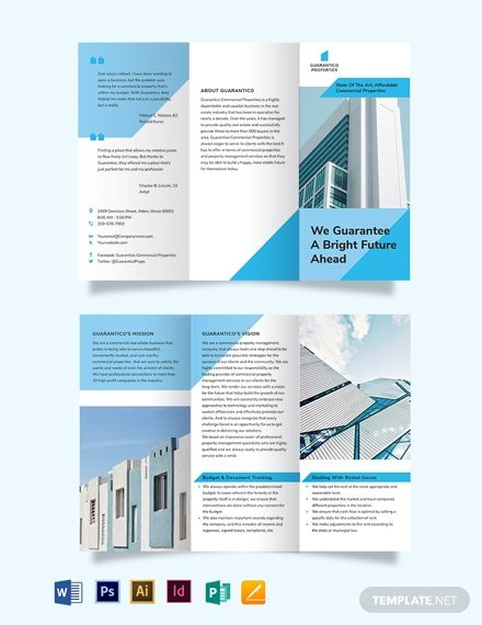 Commercial Property Management Tri Fold Brochure Trifold