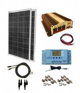 Complete 200 Watt Solar Panel Kit With 1500w Vertamax Power Inverter For 12 Volt Battery Systems In 2020 Solar Energy Panels Solar Panel Kits Solar Heating