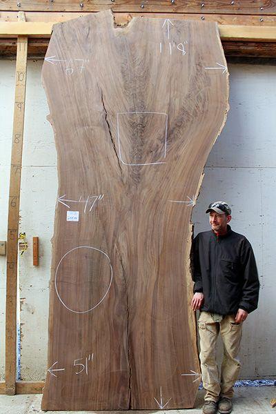 Live Edge Claro Walnut Wood Slab Wood Slab Resin Furniture Rustic Table