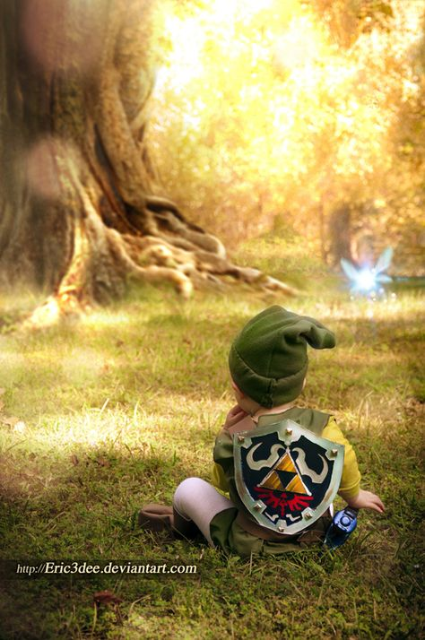 Baby Link. I wish I would have done this pic when Austin was a baby. He was Link for his first Halloween.